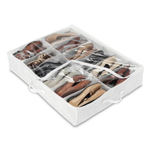 Storage > Under Bed Storage > Under bed Shoe Organizer - White
