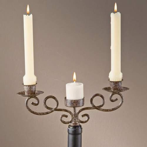 Wine Bottle Candle Holder In Wine Accessories