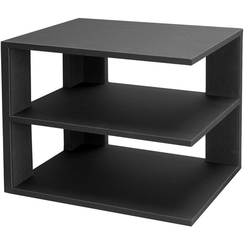 3 Tier Desktop Corner Shelf Black in Home Decor