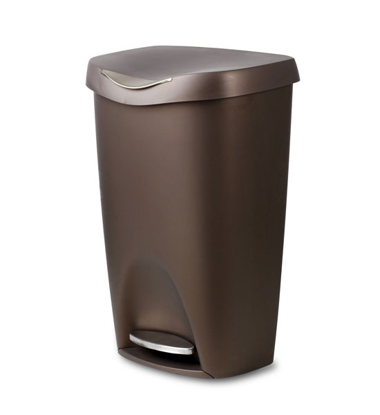 bronze brim 50 l step can in kitchen trash cans
