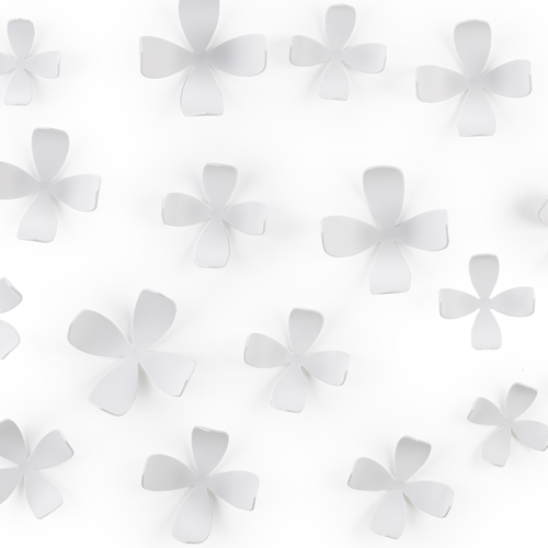 Umbra Wallflower Wall Décor Set Of 25 : Umbra wallflower wall decor white in holiday decorations