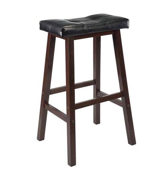 Saddle Bar Stool With Cushioned Seat In Saddle Bar Stools