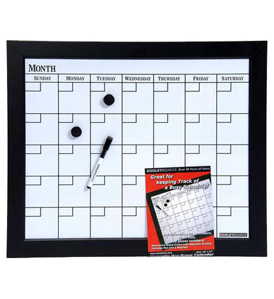 Dry Erase Calendar Board : Magnetic dry erase calendar board in calendars and planners