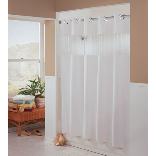 Gt shower curtains and rings gt hookless fabric shower curtain white