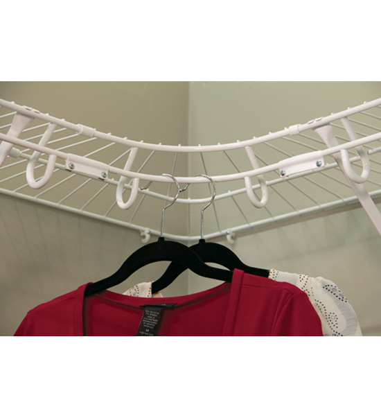 Open Slide Wire Corner Shelf 12 Inch In Wire Closet Shelving
