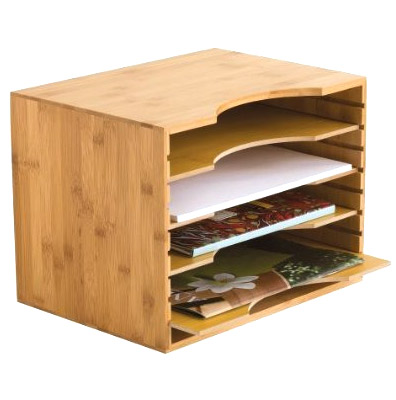 Bamboo file organizer in file and mail organizers - Bamboo desk organiser ...