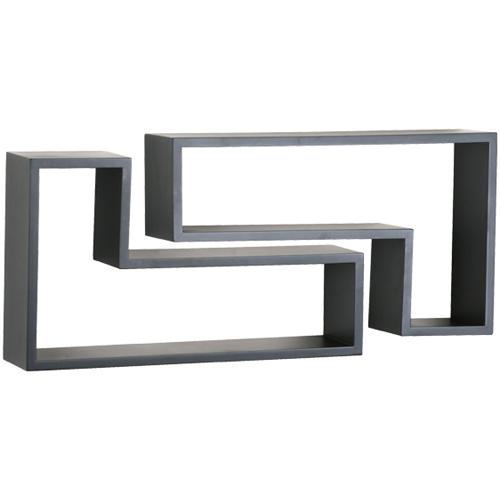 l shaped shelves set of 2 in wall mounted shelves. Black Bedroom Furniture Sets. Home Design Ideas
