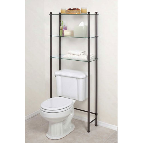 Free Standing Bathroom Shelf In Over The Toilet Shelving