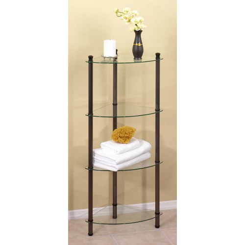 4 Tier Corner Shelving Table In Free Standing Shelves
