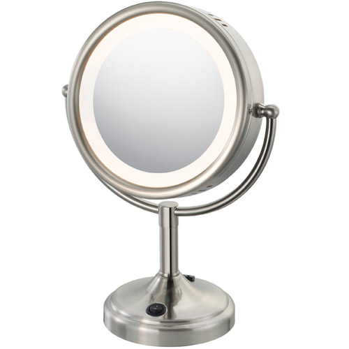 Lighted Makeup Mirror with Touch Control - Nickel in Vanity Mirrors