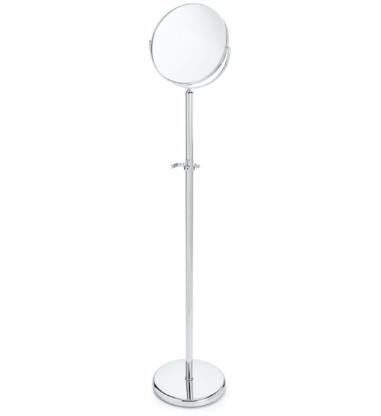 chrome adjustable floor mirror in makeup mirrors
