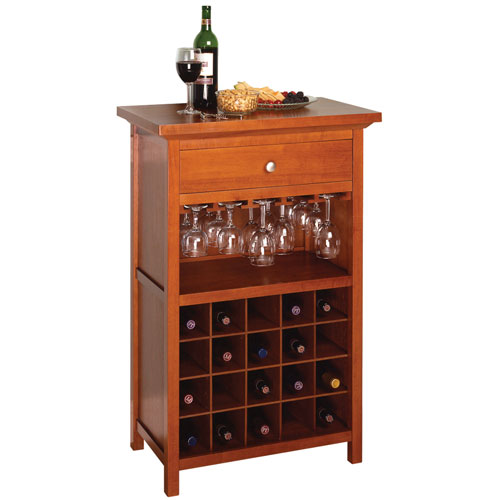 20 Bottle Wine And Stemware Cabinet In Wine Racks And Cabinets