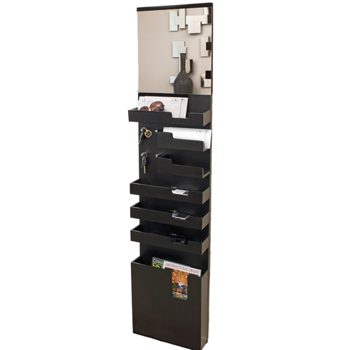Entryway Mail and Key Wall Organizer - Black in Entryway Storage