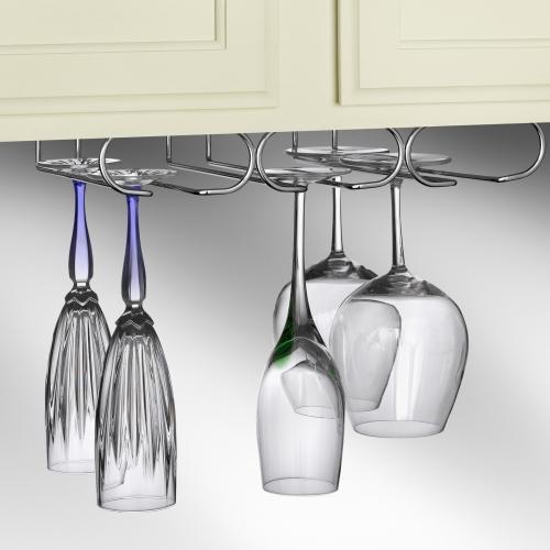 hanging wine glass holder in wine glass racks