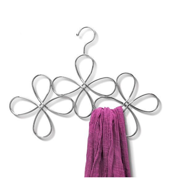 metal scarf hanger flower design in scarf hangers