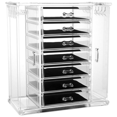 Acrylic Jewelry Chest And Necklace Holder In Jewelry Boxes