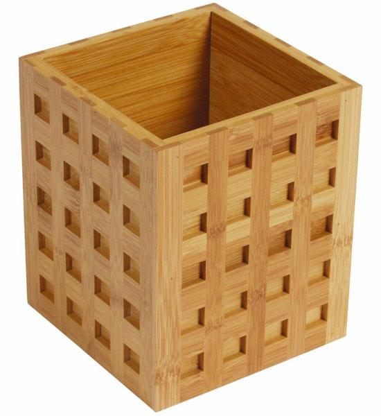 Bamboo Utensil Holder Square In Kitchen Utensil Holders