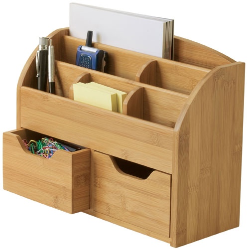 Bamboo Desktop Organizer In Desktop Organizers