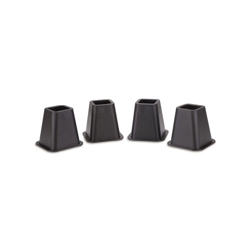 Whitmor Bed Riser Collection in. x in. Bed Risers in Black (Set)