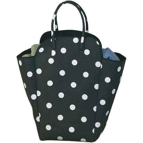 Laundry Hamper And Tote Black And White Dot In Totes
