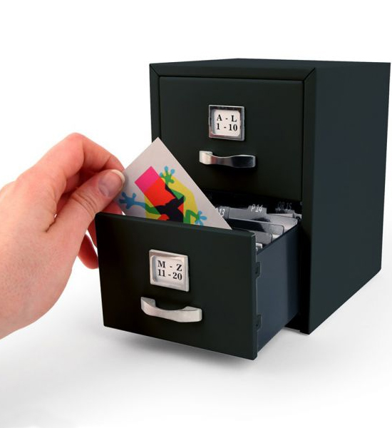 Business card file cabinet in desk accessories for Best home office video cards