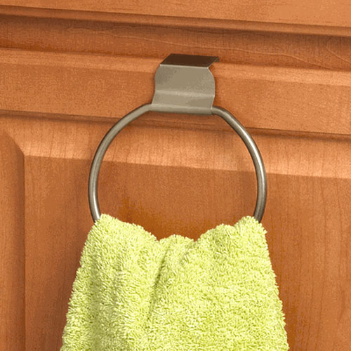 Hand Towel Ring Placement: Over The Cabinet Towel Ring In Towel Bars And Rings