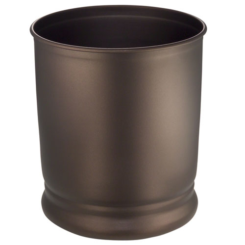 Olivia Metal Trash Can Bronze In Small Cans