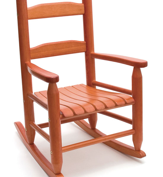 Childrens Rocking Chair Cherry in Kids Furniture
