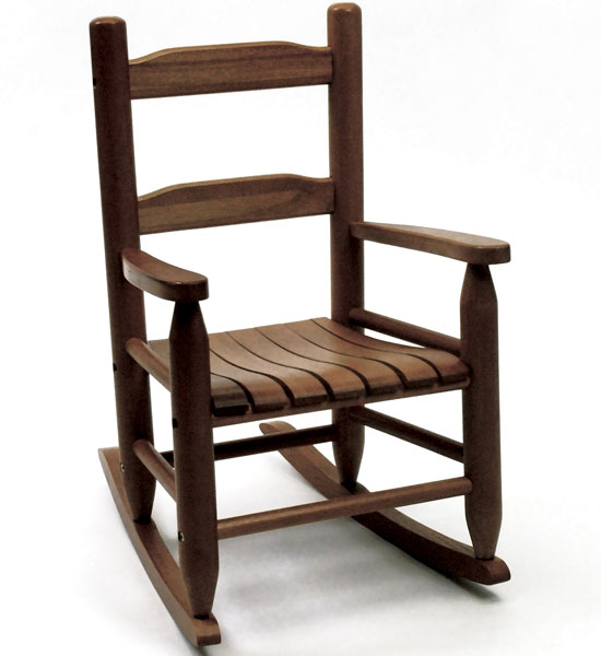 Childrens Rocking Chair Walnut in Kids Furniture