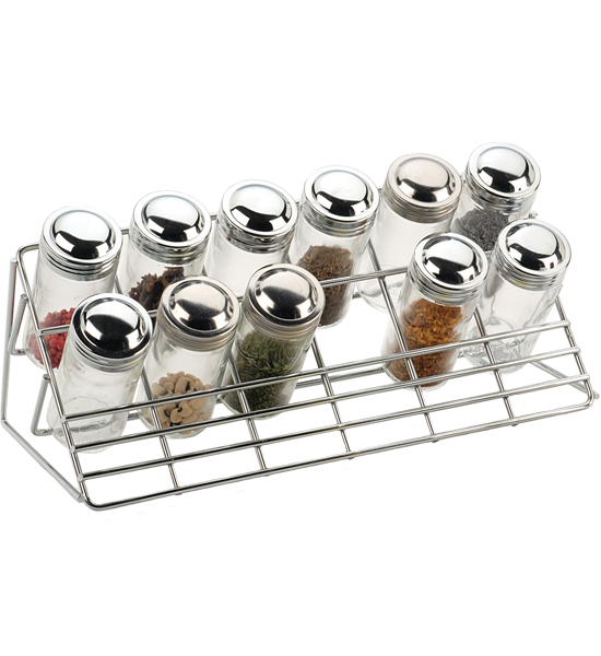... > Food Preparation > Spice Racks > Chrome Countertop Spice Rack