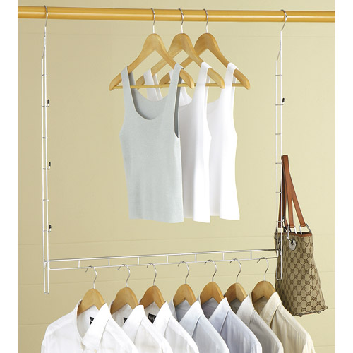 Double Up Adjustable Closet Rod In Closet Rods And Brackets