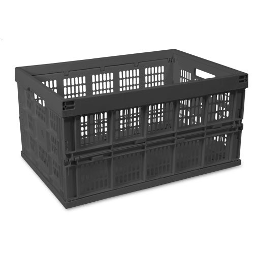 Collapsible Storage Crate Black