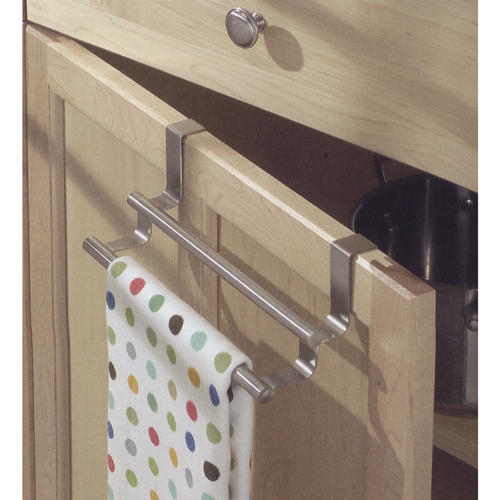 cabinet door kitchen towel bar in kitchen