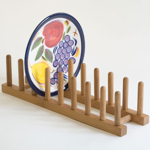 wooden rack for plates