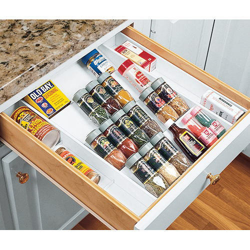 Expand A Drawer Spice Organizer In Spice Drawer Organizers