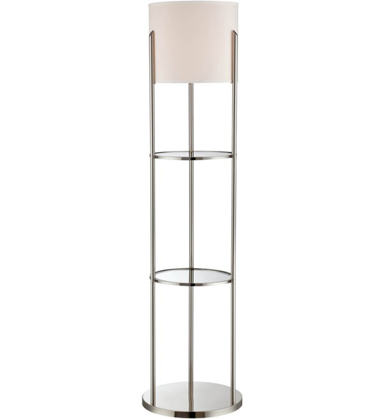 Floor lamp with shelves in floor lamps for Floor lamp with shelves