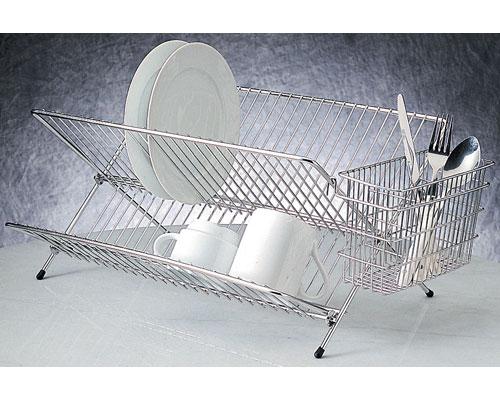 Folding Stainless Steel Dish Rack In Dish Racks