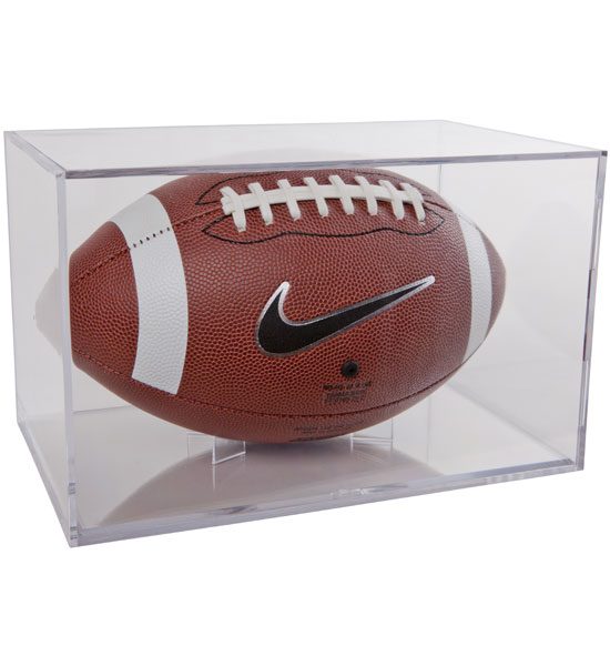 Acrylic Football Display Case In Memorabilia Cases