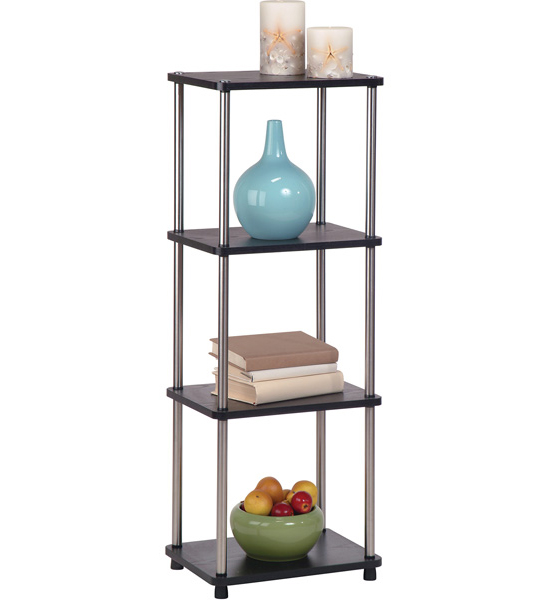 Four Tier Contemporary Free Standing Shelf In Free