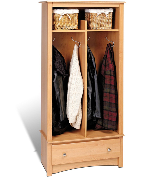 Mudroom Organizers Storage : Free standing entryway organizer in storage