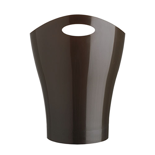 Garbino Curved Trash Can Espresso In Small Trash Cans