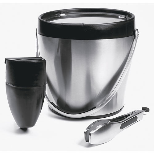 Oxo Stainless Steel Ice Bucket Set In Wine Accessories