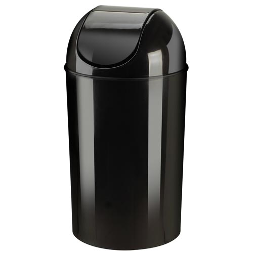 Umbra Kitchen Swing Top Trash Can Black In Kitchen Trash