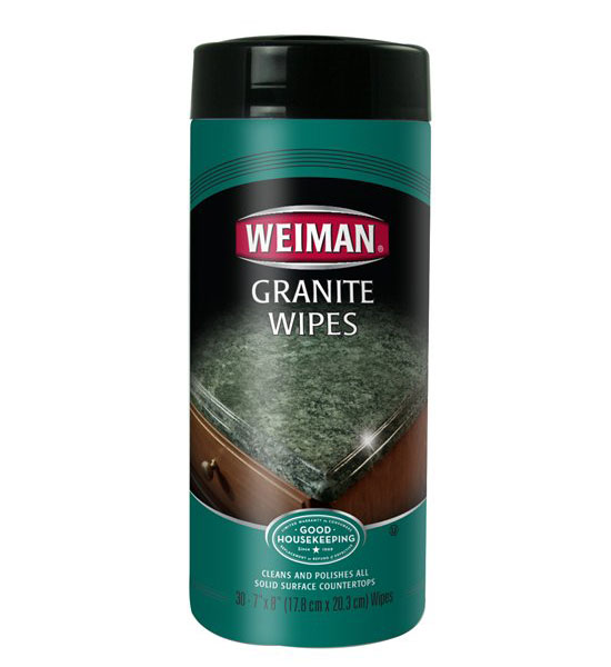 Granite Cleaning Products : Granite cleaner wipes in cleaning cloths and