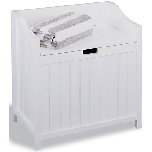 Bench Hamper White In Clothes Hampers