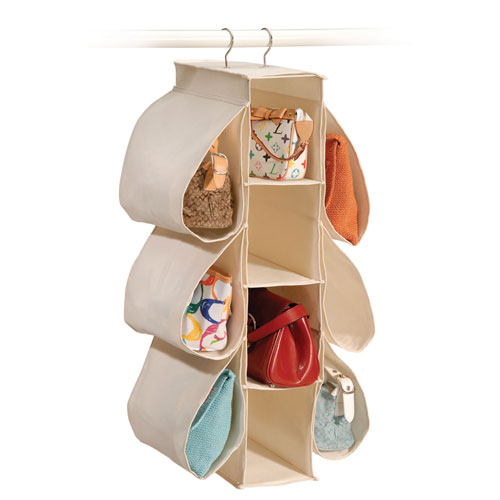 Canvas hanging purse organizer in purse organizers - Closet organizer for purses ...