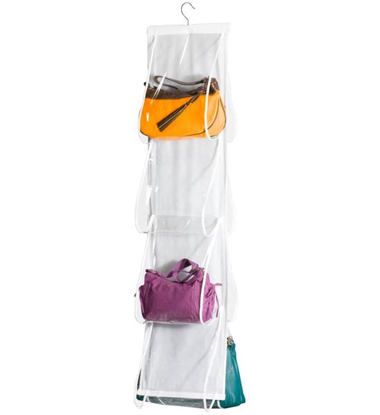Hanging closet purse organizer in purse organizers - Purse organizer for closet ...