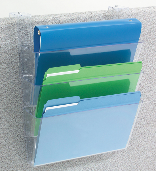 Hanging File Holder Clear In Wall Mount Racks
