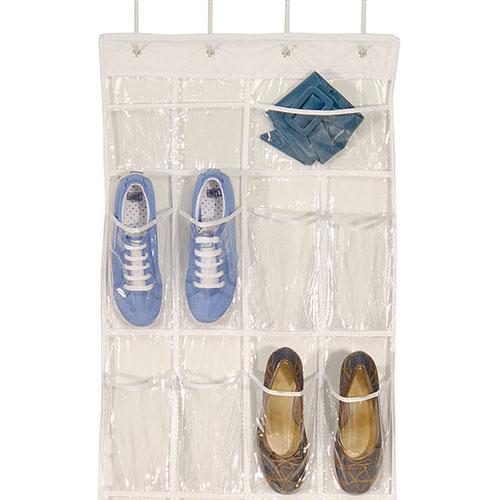 Clear over door shoe organizer in over the door shoe racks for 12 pocket over the door shoe organizer