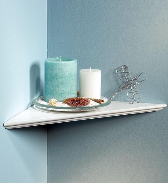 instant corner shelf in wall mounted shelves. Black Bedroom Furniture Sets. Home Design Ideas
